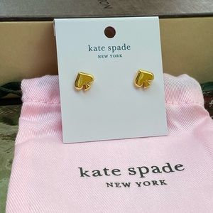 Kate Spade Gold Spade Stud Earrings